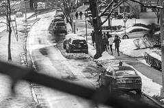 Jogging in winter time (Capitancapitan) Tags: jogging manhattan mundo merengue music men riverdale camera pentax people photography street black white winter walking neury luciano newyorkcity