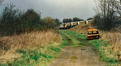 Empty Hoppers (Peter Leigh50) Tags: train trees track railway railroad rail class 60 tug great bowden