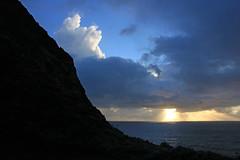 Rocky Sunset (JB by the Sea) Tags: montara halfmoonbay coastside california february2019 devilsslide devilsslidetrail devilsslidecoastaltrail pacificocean pacific ocean sunset