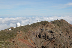 The observatories on the crater rim (EduardMarmet) Tags: lapalma spanien esp