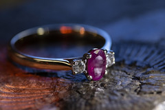 Ruby and Diamond Engagement Ring (Adaptalux) Tags: shared macro macrophotography lighting crowdfunding kickstarter photograph amazingcolour nofilter photooftheday amazing order closeup studio photography professional product adaptalux texture orange green leaf nature creative colour colourful colours ring jewellery