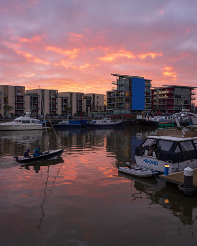 Sunset at Bristol Harbour