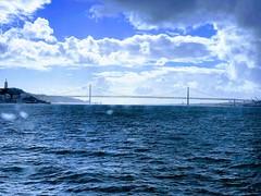 A bridge in the VIEW #lisbon (GiulianoBR) Tags: lisbon lisboa portugal 2019 iphonexs cloudly raining sky blue tejo tagus river ponte bridge 25deabril