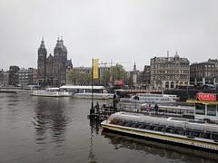 Prins Hendrikkade view from Cental station (xd_travel) Tags: amsterdam apr2019 netherlands church basilica saintnicholas damrak