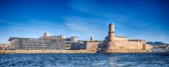 Marseille (DouxVide) Tags: mft m43 panasonic gx8 714mm panorama uwa grandangle mer sea mare cielbleu marseille mucem tour tourdufanal musée museum méditerranée hiver jour day winter lumix phare fanal