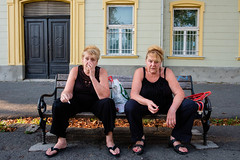 Zagreb, Croatia (f.d. walker) Tags: balkans croatia easterneurope europe zagreb women sisters twins streetphotography street surreal strange funny candidphotography candid color colorphotography city clothes unposed identical