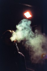 ️ (AloysiaVanTodd) Tags: cinestillfilm cinestill800 cinestill analog photography photographer film negativefilm light night life smoke cloud spot led poetry portrait antiportrait sombre soul existence expressive colors canon