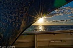 Sun Star Peeks Around A Spare Prop (dcstep) Tags: queenmary2 gm2 ocean sea atlanticocean cruise sonya7riii fe24105mmgoss allrightsreserved copyright2018davidcstephens dxophotolab202 vacation dsc0165dxo sunstar sun prop pixelpeeper