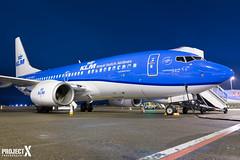 KLM Royal Dutch Airlines - Boeing 737-7K2 - PH-BGF - Aberdeen Airport Airside (paulstevenchalmers) Tags: abz aberdeen aircrfat 737 b737 boeing aberdeenairport airport airline klm dutch blue longexporures longexposure