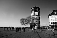 Dusseldorf (jo.misere) Tags: bw zw dusseldorf duitsland germany rheinufer