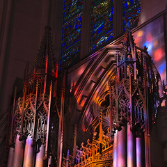 Morning Light at Washington National Cathedral (jtgfoto) Tags: washingtonnationalcathedral architecture cathedral architecturalphotography washingtondc washington nationalcathedral sonyimages sonyalpha stainedglass light color church interior