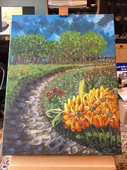 My first .. (A.P.PHOTOGRAPHY.) Tags: acrylic paintings art creative skies grass flowers paths trees