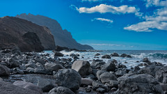 Playa Puerto Del Trigo (Jörg Bergmann) Tags: 2019 alojera islascanarias lumixg20f17 lagomera panasonic20mmf17 panasonicdmcgf7 pancake playapuertodeltrigo beach blue bluesky canarias canaryislands cliffs clouds coast españa gf7 gomera hiking hiver invierno january landscape lumix lumix20mm m43 mft micro43 microfourthirds nature ocean panasonic panorama rocks sea seascape sky spain stitched surf travel vacation wallpaper wandern water winter μ43