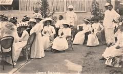 Fashions in Darwin, Northern Territory - very early 1900s (Aussie~mobs) Tags: australia vintage northernterritory fashion ladies gentlemen darwin group pithhelmet