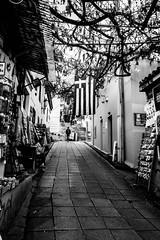 Flag on a street, Athens, Greece (Davide Tarozzi) Tags: flagonastreet athens greece strade street atene grecia bandiera balckwhite blackandwhite biancoenero αθήνα ελλάδα