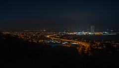 Frederikshavn city in Denmark at night. (Carl Terlak) Tags: frederikshavn sony apsc zeiss nex bay nightshot