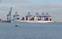 IMGP6987 (mattbuck4950) Tags: england unitedkingdom europe water boats rivers northsea january cranes essex harwich camerapentaxk70 lenssigma18300mm 2019 riverstoursuffolk felixstowe portoffelixstowe gbr
