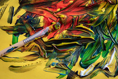 Organized Chaos (Rushay) Tags: backgrounds colors brush mixed art paint paintbrush portelizabeth southafrica