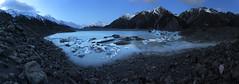 Icebergs Under The Stars, Tasman Lake, Mt Cook National Park, New Zealand