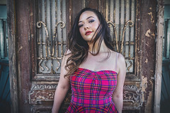 The Ancient and The Angelic (Luv Duck - Thanks for 14M Views!) Tags: select genevieve brunette beautifulgirl beautifulbody californiagirls carmelbythesea plaid modeling model photoshoot naturalbeauty