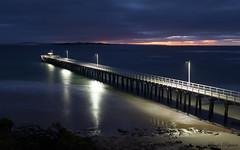(Laszlo Papinot) Tags: morning sand sunrise cloud water sky landscape pointlonsdale ocean pier jetty