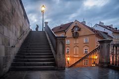 The Charles Bridge at Kampa Stairs, Prague, Czechia (CuriousZed) Tags: prague czech sindelar zdenek zed curiouszed travel photography art fineart night