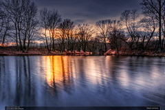 Slepá ramena (jirka.zapalka) Tags: czechrepublic winter landscape water morava sun sunset evening longtime river reflection