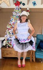 Two petties (Trixy Deans) Tags: crossdresser cute cd crossdressing classy cocktaildress classic corset crossdreeser xdresser sexy sexyheels sexytransvestite sexylegs shemale shortdress frilly frills hot heels highheels legs