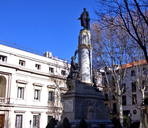MONUMENTO A CANOVAS DEL CASTILLO, MADRID DE LOS AUSTRIAS 8706  3-2-2019
