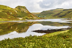 Landscape, Loch Beag, Amar River vally, Isle of Skye, Scotland, (imagesbyhmck) Tags: quiet crofts countryside environment freshair nature outdoors unpolluted calm peace tranquil reflection reflectioninwater september 2008 water skye amarriver amarrivervalley islands naturalrural royaltyfree scenery hills mountains hebrides innerhebrides naheileananastaigh scotland scottishislands unitedkingdom flickr