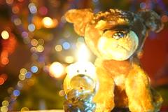 Новогоднее боке 2018 / New Year bokeh 2018 (Владимир-61) Tags: новыйгод праздник украшения свеча игрушка собака боке newyear holiday decoration candle toy dog bokeh