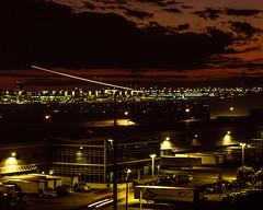 SkyLeaseCargo (mezcamera) Tags: nightphotography filmphotography aviation aviationphotography slidefilm fuji velvia50 hasselblad 501cm