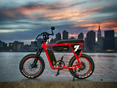Juiced Camp-scrambler NYC (NYC sharpshooter) Tags: bike ebike bicycle electric ride technology biker battery sport transportation city modern eco biking outdoor cyclist power lifestyle active outdoors mobility pedelec hybrid urban cycle e mountain energy motion environment recreation nature helmet green trail transport alps mountainbike travel caucasian motor job summer woman charge leisure terrain riding sunsets newyorkcity juicedbikes minibike empire state building landmarks nyc dirt atv