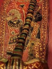 Closeup of A pair of King Tut's ornate ceremonial sandals depicting captured Nubian and Asian prisoners 18th dynasty New Kingdom Egypt (mharrsch) Tags: kingtut tutankhamun artifact treasure exhibit tomb egypt 18dynasty newkingdom discoveryofkingtut omsi oregonmuseumofscienceandindustry portland oregon mharrsch