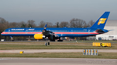 Icelandair (100 Years Icelandic Independence) Boeing 757-3E7 TF-ISX (StephenG88) Tags: manchesterairport southside man egcc 23l 23r boeing airbus 25thfebruary2019 25219 22519 lineup takeoff icelandair ice fl 100yearsicelandicindependence 757 753 757300 7573e7 tfisx