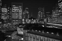 Image Control Monotone (HAMACHI!) Tags: tokyo 2019 japan tokyostation night light lightup illumination architecture buildings nightscene nightscape nightview imagecontrole bnw blackandwhite monochrome monotone