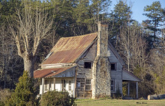 No Trespassing (mevans4272) Tags: house trees grass sky old abandoned rural rustic