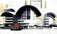 Red Sails (beelzebub2011) Tags: china hongkong harbor junk boat architecture