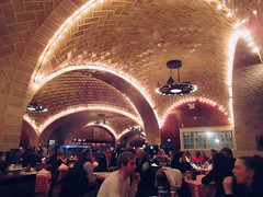 Vaulted Tile Ceiling at the Oyster Bar Restaurant 9292 (Brechtbug) Tags: vaulted tile ceiling oyster bar restaurant below grand central station nyc 01072019 new york city 2019 seafood dinner ground level january winter time cooked boneless pan fried aquatic creature almond slivers dining out table top interior architecture subterranean vault vaults