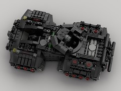 m8.5 Scramp Battle Tank (V2) (demitriusgaouette9991) Tags: lego ldd military army armored powerful tank turret future flag railgun cockpit whitebackground deadly destroyer inside crew
