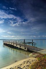 Before the Storm (jsnowy2768) Tags: goldenbeach queensland australia ayliffepark bribieisland jetty sky clouds water waves sand beach park northspit pumicestonepassage