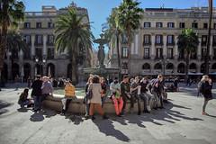Royal Square. Barcelona, Spain (varfolomeev) Tags: 2018 испания город улица spain city street fujifilmxt10 samyang12mm фонтан fountain