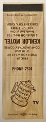 KENLOR MOTEL CRESCENT CITY CALIF (ussiwojima) Tags: kenlormotel motel crescentcity california advertising matchbook matchcover