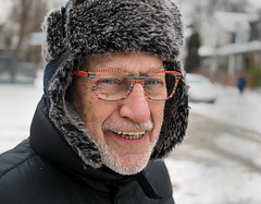 Gary (jeffcbowen) Tags: gary glasses hat smile teeth toronto portrait laughter