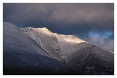 Light on Blencathra, The Lake District (dandraw) Tags: blencathra saddleback thelakes thelakedistrict cumbria mountains drama dramatic atmospheric moody sunlight goldenhour snow winter landscape lightsource outdoors adventure fuji fujifilm xt3