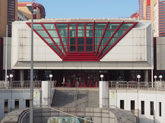 red funnel (Elisabeth patchwork) Tags: architecture lines red verkehrsamt wien vienna austria