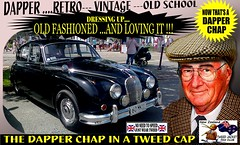 Dapper Chap In A Tweed Cap 2019  Part 13 (Save The Last Ocean) Tags: vintagecarclub vintagecar oldschool retro man fashion poster sign outdoor distinguished gentlemans cap tweed wearing car nz kiwi older oldman granpa classic auto vehicles cavalrytwilltrousers rally show club menswear scottish houndstooth uk british woven yorkshire 2019 nokia headlight art blazer plaid auckland hamilton rotorua tauranga gisbourne napier hastings wellington nelson christchurch dunedin invercargill city tweedcap tweedjacket citycouncil newplymouth whanganui wanganui rockandhop parked road street tweedjacketphotos sedan saloon manwearingtweedjacket menstweedjacket ride run jaguar mk2 vehicle 60s 1960s