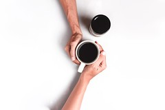 Black coffee close up coffee - Credit to https://homegets.com/ (davidstewartgets) Tags: black coffee closeup cups hands human indoors liquid people touching