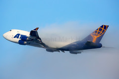 Atlas Air Boeing 747-47UF N477MC (Mark Harris photography) Tags: spotting lax la canon 5d plane boeing 747 atlas 5y