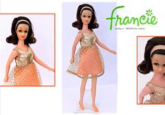TAG GAME: 'OVERLOOKED GEMS' Part 2 (ModBarbieLover) Tags: fashion vintage toy orange francie nobangs doll mattel mod gold mesh flip hairstyle brunette 1971 1969 1972